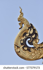 Architectural detail of the Fah Thai temple in Chiang Mai. Thailand
