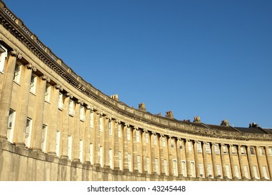 Architectural Detail of a Georgian Crescent in Bath, Somerset