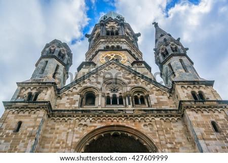 Architectural Detail Kaiser Wilhelm Gedaechtniskirche One Berlins