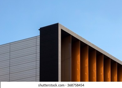 Architectural detail of modern office building