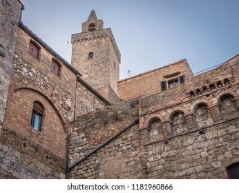 Architectural detail of San Gimignano (Tuscany)