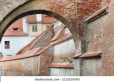Architectural detail in Sibiu - Hermannstadt, Romania, Europe