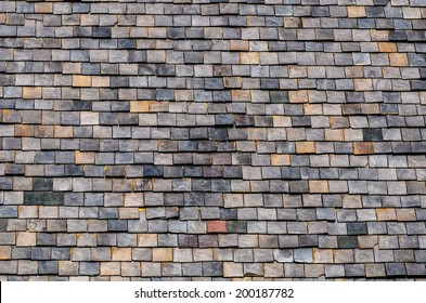 Architectural Detail of Slate Roof Tiles