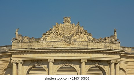 Architectural detail of Stables of castle of chantilly, Oise, france