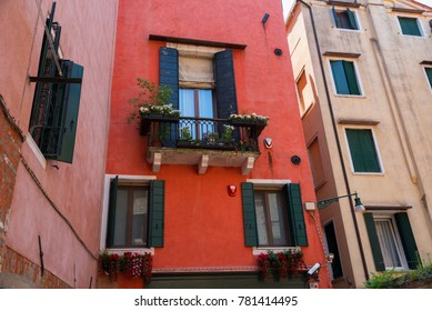 Architectural detail of traditional house in Venice, Italy.