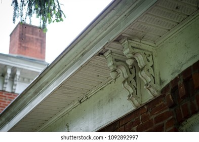 architectural detail of victorian house - landscape