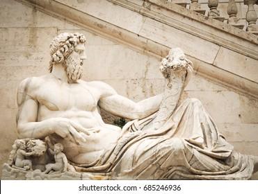 Architectural detail of the Vittorio Emanuele Monument in Piazza Venezia, Rome, Ialy