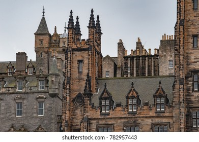 Architectural details of medieval buildings in Edinburgh