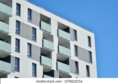 Architectural details of modern apartment building