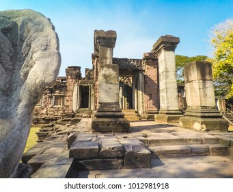 Architectural details At Phimai Historical Park , Nakhon Ratchasima , Thailand
