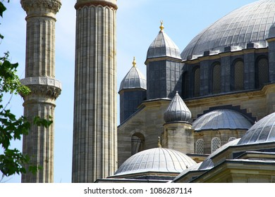 Architectural details of Selimiye Mosque, Edirne Turkey.