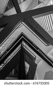 Architectural details in the Shinjuku district in Tokyo