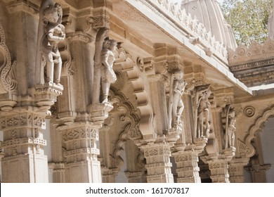 Architectural details of a temple, Swaminarayan Akshardham Temple, Ahmedabad, Gujarat, India