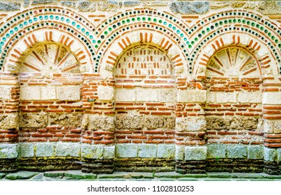 Architectural elements of partially preserved Church of the Holy Archangels Michael and Gabriel in Nessebar, Bulgaria