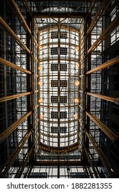 An architectural entrance hall. Looking Up