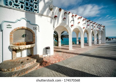 Architectural feature. Balcon de Europa. Nerja, Spain.