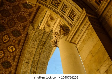 Architectural features of St. Stephen's Basilica in Budapest, Hungary