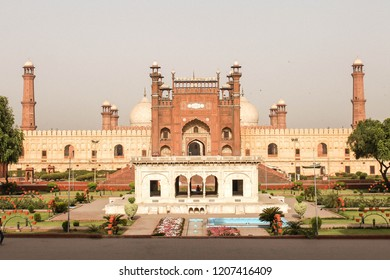 The architectural gems of Badshahi Mosque, built by the Mughal emperor Aurang Zeb Alamgeer.