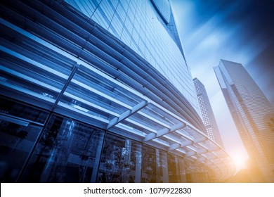 The architectural landscape of the commercial building in the ci