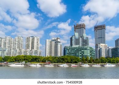 Architectural landscape of Shanghai, the Bund