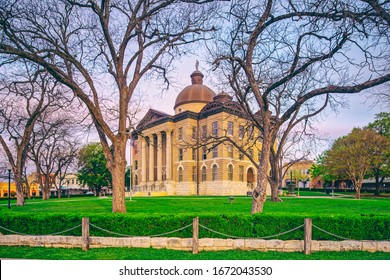 Architectural Photograph of Historic Hays County Courthouse in Downtown San Marcos -  Central Texas