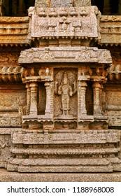Architectural pillars of Lord Shiva temple at Hampi
