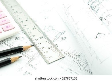Architectural plan,technical project drawing have cost, Consider of the cost to build a house