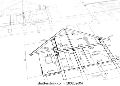 House blueprint stock images royalty free images vectors architectural project of new modern house blueprints series malvernweather Gallery