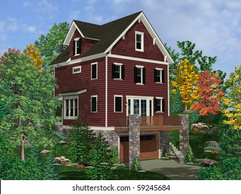 Architectural Rendering House