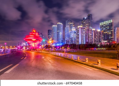 Architectural scenery and skyline of Qingdao