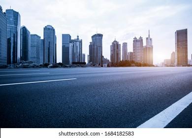 Architectural street, Lujiazui Financial District, Shanghai