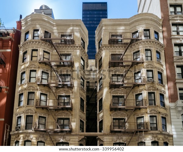 Architectural Style City New York Oldest Stock Photo (Edit