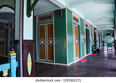architectural style and ornament of Sultan Suriansyah mosque, Banjarmasin, South Kalimantan, Indonesia, September 18, 2018