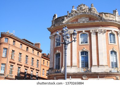 Architectural style in Toulouse, the French pink city and city of Art and History with an important architectural and artistic heritage, Haute Garonne, Occitanie, France