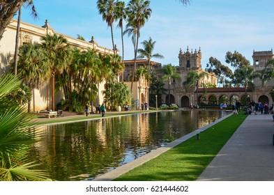Architectural Styles in Balboa Park, San Diego, California, USA