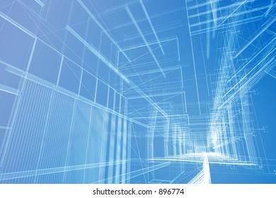 Architectural wire mesh.