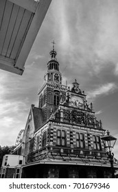 Architecture in Alkmaar, the Netherlands, black and white image