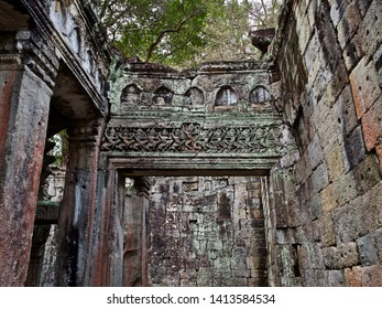 Architecture of ancient temple complex Angkor, Siem Reap, Cambodia