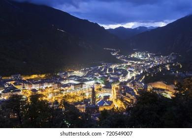 Architecture of Andorra la Vella. Andorra la Vella, Andorra.