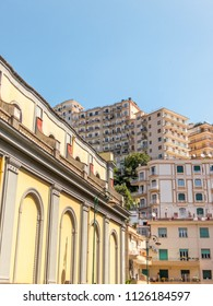 Architecture in the beautiful city of Naples in Italy