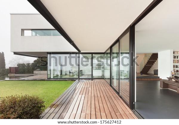 Architektur Interieur Einer Modernen Villa Aussicht ...