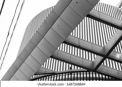Architecture black and white city