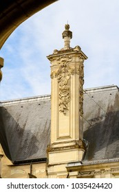 Architecture of Blois, a city and the capital of Loir-et-Cher department, France