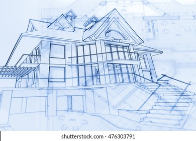 architecture blueprints & house drawing