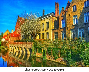 Architecture of Brugge, Belgium. Mobile photo