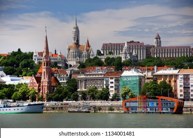Architecture of Budapest, capital city of Hungary, Europe