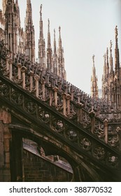 architecture of the building the Duomo in Milan