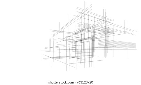 architecture building sketch