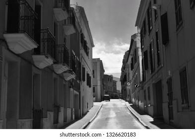 Architecture and buildings in Menorca. European architecture style. Taken in Menorca.