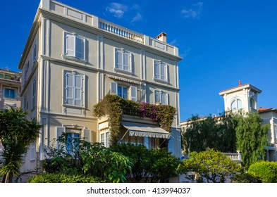 Architecture of buildings on streets of Monaco